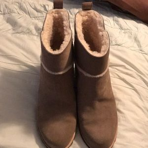 Ugg Tan Suede Wedge Winter Booties